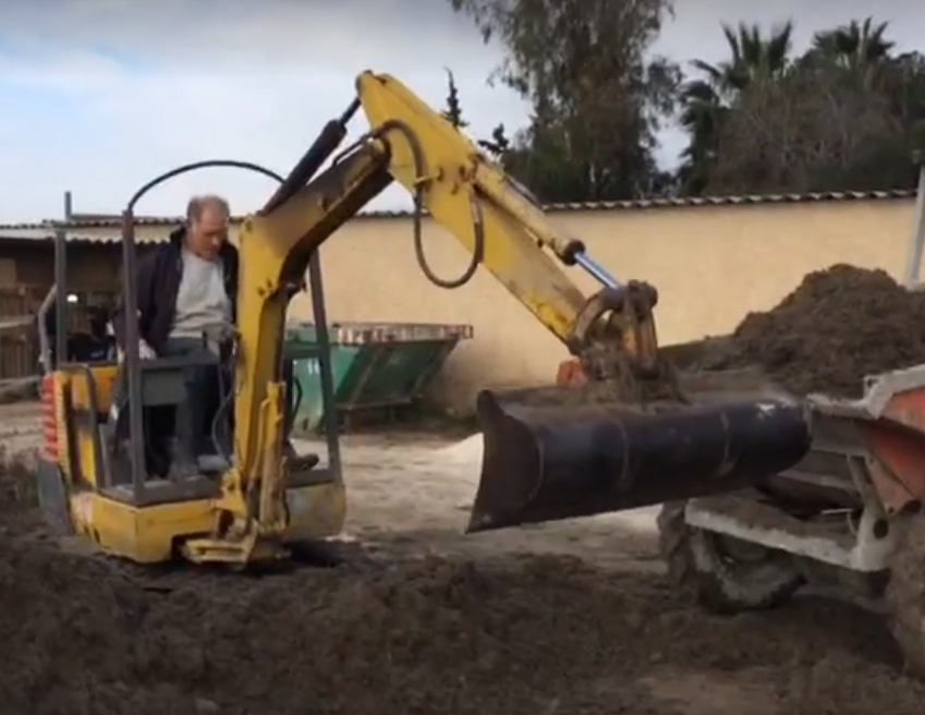 Rod using the old digger in January 2017