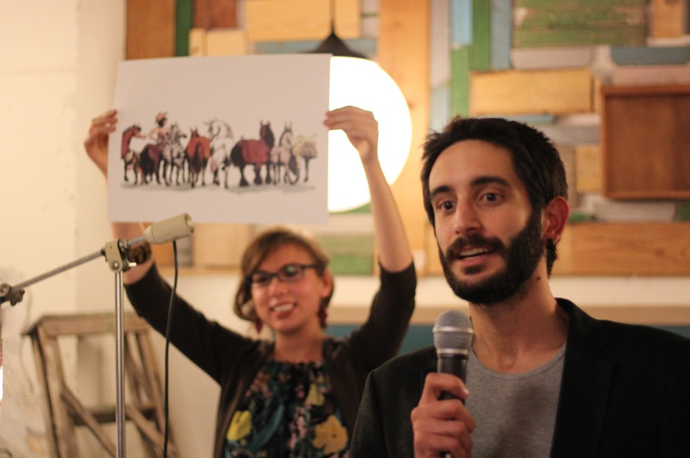 EHC charity art auction presenters Irene Llopis Rocamora and Rafa Campos Photo Carmelo Scavone