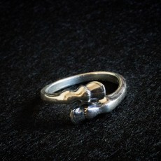 Horse's hooves silver ring